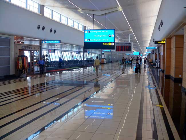 Dammam Airport has the largest passenger terminal in the world.
